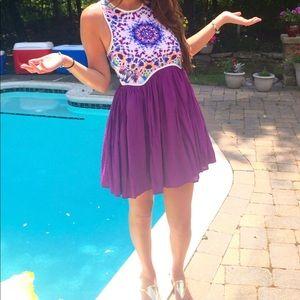 Tobi Purple Pattern Dress